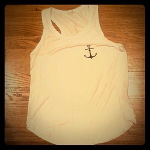 French Pastry white anchor tank size large EUC